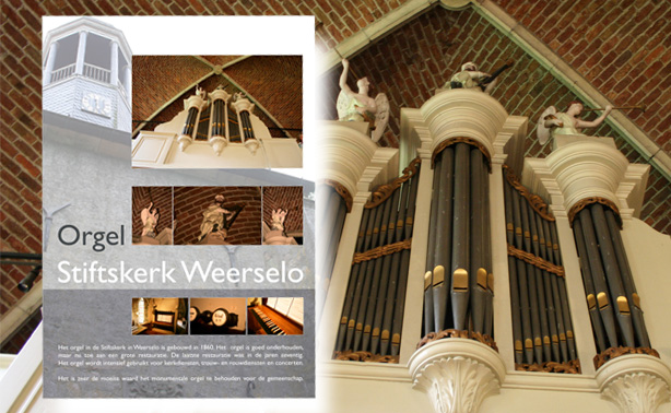 Stiftsgemeente – Advertising poster church organ